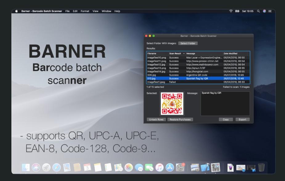 Barner Barcode Batch Scanner  for scanning multiple QR Codes at once