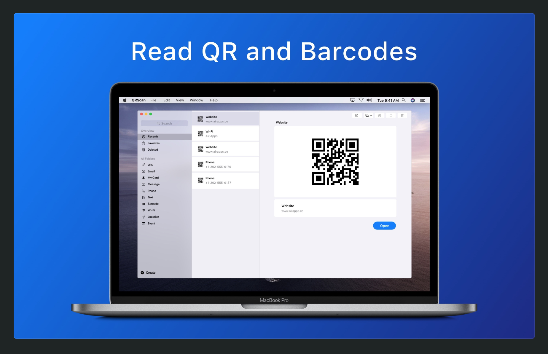 QRScan- a QR Code reader for iPad and Mac